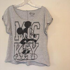 Mickey Mouse Distressed Hem Tee-Shirt